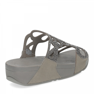 Fitflop Bumble Crystal slide pewter-4