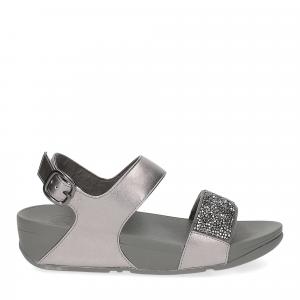 Fitflop Sparklie Crystal Sandal pewter-2