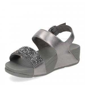 Fitflop Sparklie Crystal Sandal pewter-4
