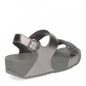 Fitflop Sparklie Crystal Sandal pewter-5