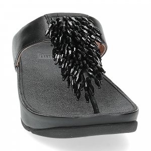 Fitflop Rumba toe thong sandal black-3