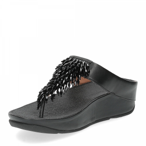Fitflop Rumba toe thong sandal black-4