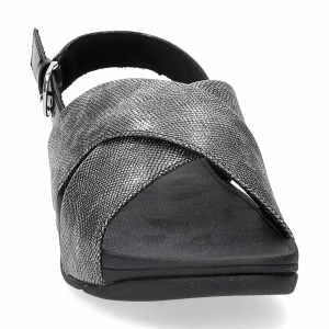 Fitflop Lulu Cross Back Strap Sandal shimmer print black-3