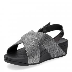 Fitflop Lulu Cross Back Strap Sandal shimmer print black-4