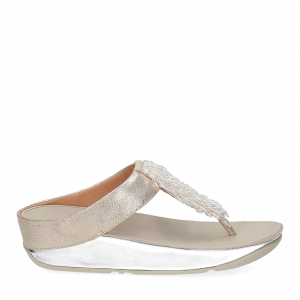 Fitflop Rumba toe thong sandal metallic silver-2