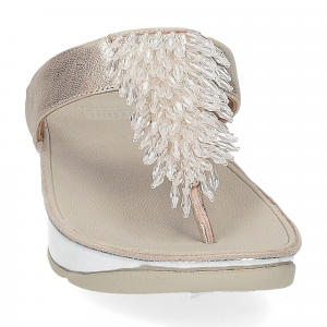 Fitflop Rumba toe thong sandal metallic silver-3