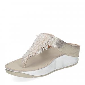 Fitflop Rumba toe thong sandal metallic silver-4