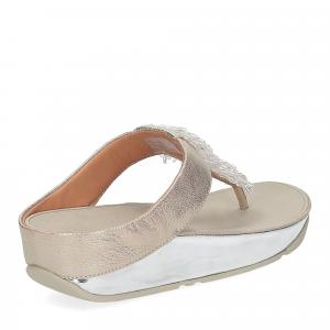 Fitflop Rumba toe thong sandal metallic silver-5