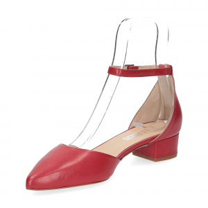 Il Laccio décolleté sandaliera pelle rossa-4
