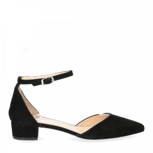 Il Laccio décolleté sandaliera camoscio nero-2