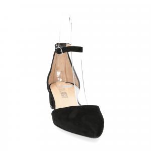 Il Laccio décolleté sandaliera camoscio nero-3