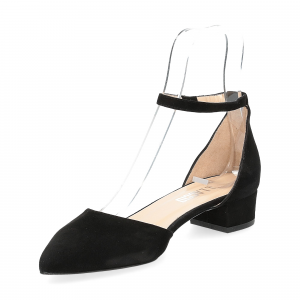 Il Laccio décolleté sandaliera camoscio nero-4