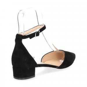 Il Laccio décolleté sandaliera camoscio nero-5