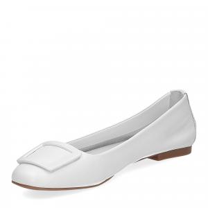 Laccio ballerina 18107 fibbia pelle bianca-4