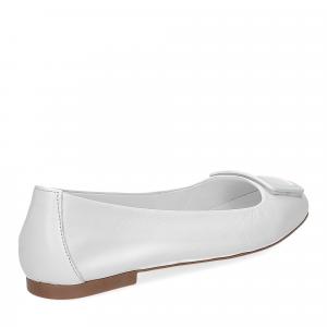 Laccio ballerina 18107 fibbia pelle bianca-5