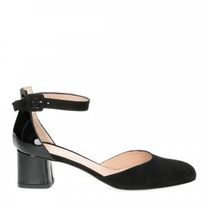 Andrea schuster sandaliera camoscio nero-2