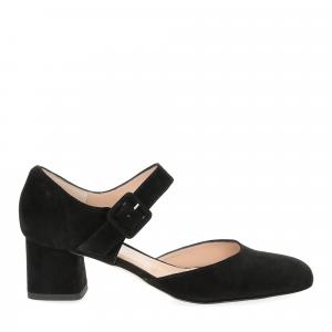 Andrea schuster sandaliera camoscio nero 5cm-2