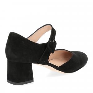 Andrea schuster sandaliera camoscio nero 5cm-5