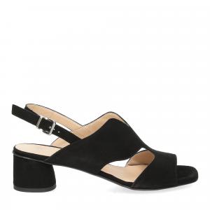 Andrea Schuster sandalo camoscio nero-3