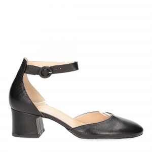 Il laccio sandaliera in pelle nera-3