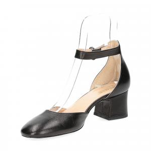 Il laccio sandaliera in pelle nera-4