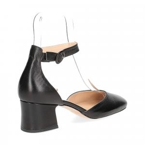 Il laccio sandaliera in pelle nera-5
