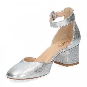 Il laccio sandaliera pelle laminata argento-4