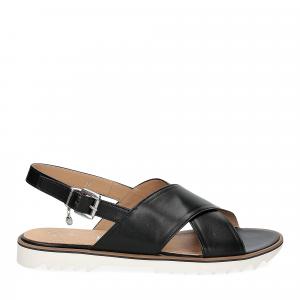 Siton sandalo pelle nera-3