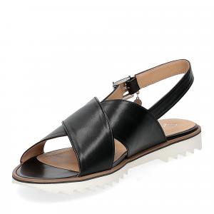 Siton sandalo pelle nera-4