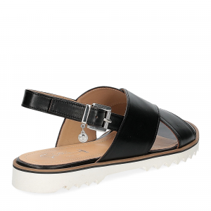 Siton sandalo pelle nera-5