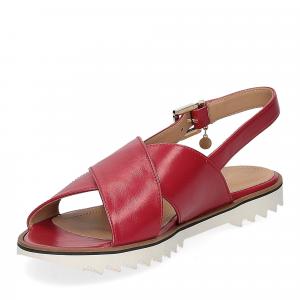 Siton sandalo pelle rossa-4