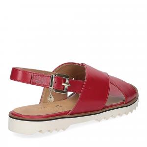 Siton sandalo pelle rossa-5