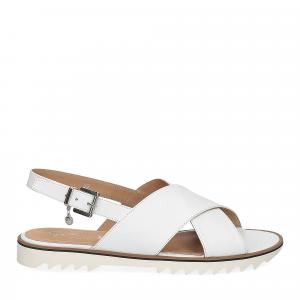 Siton sandalo pelle bianca-2