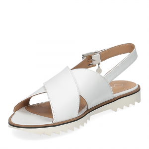 Siton sandalo pelle bianca-4