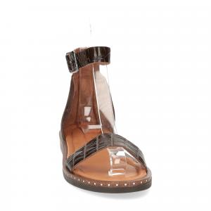 Il laccio sandalo in pelle testa di moro-3