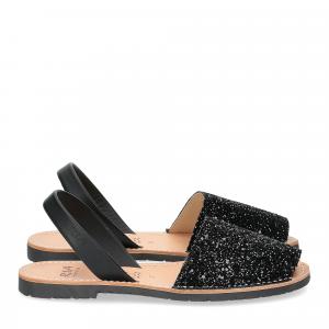 Ria Menorca sandalo minorchina glitter nero-1