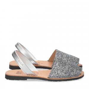 Ria Menorca sandalo minorchina glitter argento-1