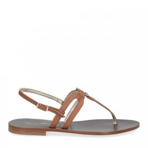 De Capri a Paris sandalo infradito gioiello pelle cuoio-1