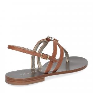 De Capri a Paris sandalo infradito gioiello pelle cuoio-5