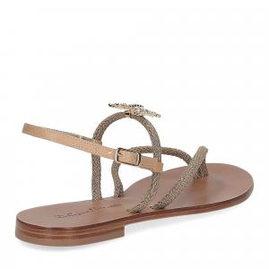 De Capri a Paris sandalo infradito gioiello corda taupe-5