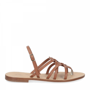 De Capri a Paris sandalo infradito pelle cuoio-2