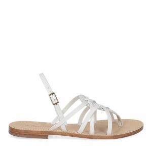 De Capri a Paris sandalo infradito pelle bianca-1