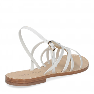 De Capri a Paris sandalo infradito pelle bianca-5