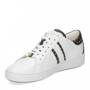 Michael KorsKeaton stripe optic white leather brown-4