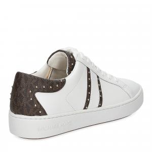 Michael KorsKeaton stripe optic white leather brown-5