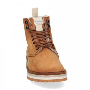 Panchic Ankle boot nubuk lining shearling caramel-1