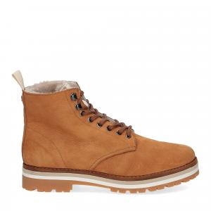 Panchic Ankle boot nubuk lining shearling caramel-2