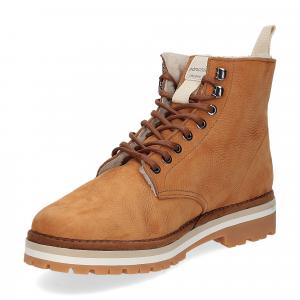 Panchic Ankle boot nubuk lining shearling caramel-4