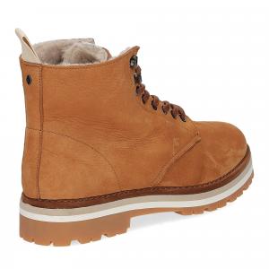 Panchic Ankle boot nubuk lining shearling caramel-5