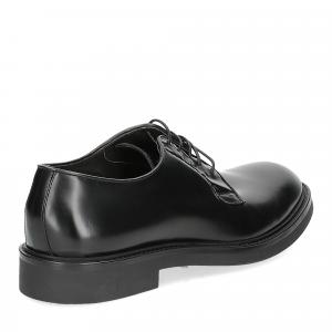 Corvari Stringata 9047 liscia spazzolata nera-5